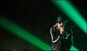 Kid Rock performs at the Huntington Center on Friday.