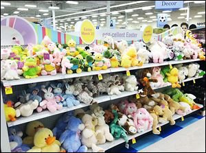 Easter toys at Meijer are just one item to benefit sales during  the Christian holiday. Other items can include clothing and flowers.