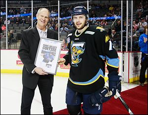 Executive Editor of The Blade Kurt Franck honors Toledo's Willie Coetzee as the 2013 fan favorite.