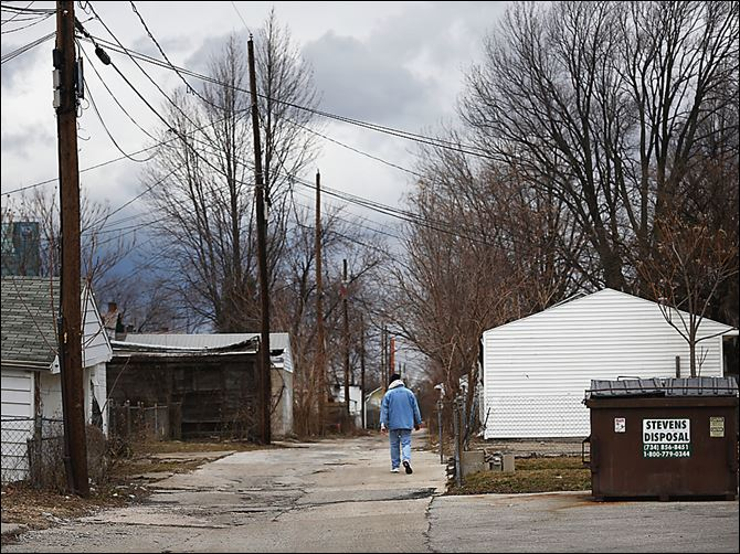 Blight is considered a problem as well as crime in the East Toledo area bounded by Elgin Avenue and Front, White, Nevada, and Oak streets where Toledo Police conducted a sweep that ended Sunday.