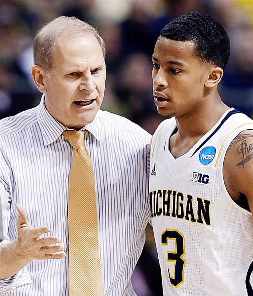 Beilein-and-Burke-UM-Basketball