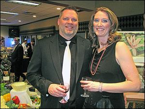 Waterville Chamber of Commerce wine event event chairmen Emily and Bob Hoorman.