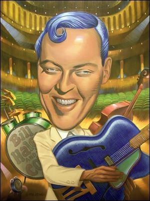 Mr. Atomic painting of Bill Haley by Mark Kersey.