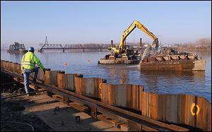 Dredging of the Maumee River for the Ironville Dock in East Toledo  began in November. The former Gulf Oil refinery along Front Street is being redeveloped as a bulk-materials terminal.