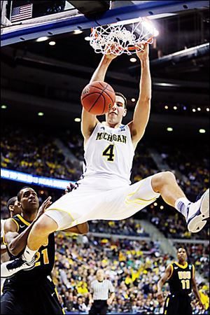 Michigan forward Mitch McGary posted 21 points and 14 rebounds last weekend in a 78-53 win against No. 5 seed Virginia Commonwealth.