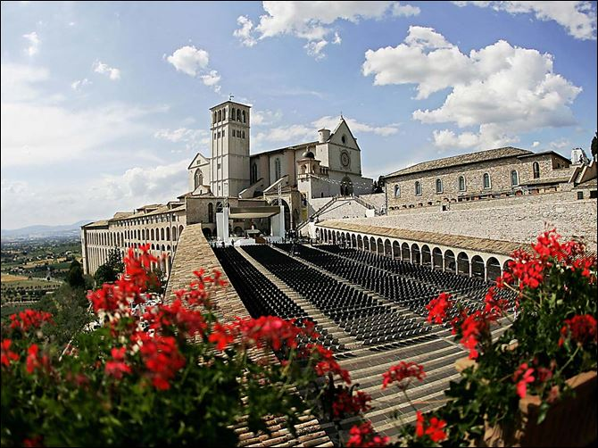 Pope John Paul II selected the town of Assisi as a place for all religious leaders to gather annually  to pray for peace.