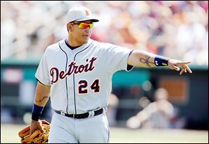 Triple Crown winner Miguel Cabrera will anchor a powerful Tigers lineup that will be bolstered by the addition of Torii Hunter and Victor Martinez.