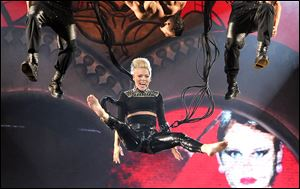 Singer Pink performs during her
