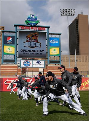 The Mud Hens stopped home, but not for long: They open the season Thursday in Louisville.