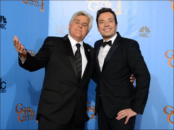 TV Leno Fallon Jay Leno, host of