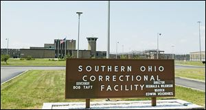 Nine in­mates and one cor­rec­tional of­fi­cer died in a 1993 riot at the Southern Ohio Correctional Facility in Lucasville, shown here in 2005.