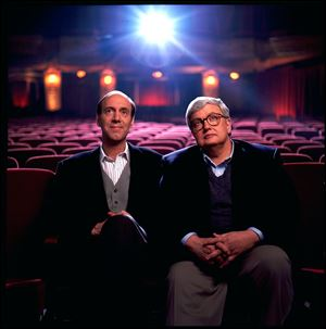 Movie critics Roger Ebert, right, and Gene Siskel in this undated photo.