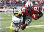 Ohio State receiver Michael Thomas, seen here last season, hopes to improve on a 2012 season that saw him catch three balls for 22 yards.