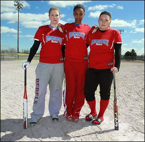 Bowsher won the City League championship last season and looks to defend with top players, from left, Maya Wymer, Victoria Turnbough, and Nikki Broshious.