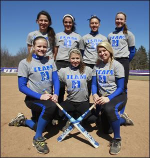 Springfield is picked to win the NLL with top players, front from left, Bre Buck, Libby Mathewson, and Ashley Zappone, and back, from left, Bri Espino, Hannah Girlie, Lauren Yates, and Kiley Millere.