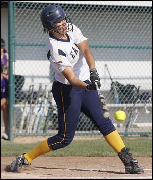 Notre Dame's Cassie Gillespie hit .432 last season and had nine home runs and 25 RBIs.