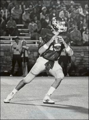 A.J. Sager played quarterback for the University of Toledo and led the Rockets to the 1984 MAC championship.