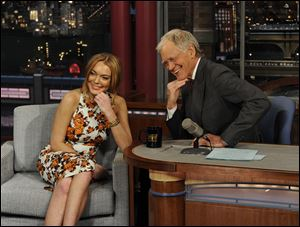 Actress Lindsay Lohan talks to David Letterman about her upcoming trip to rehab, her guest star roles in the series