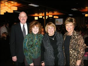 Jeff and Jeni Hepner, Carol Clark, and Jill Morse. Jeni, Carol and Jill are all Heartbeat volunteers.