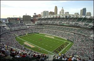 Due to ongoing renovations to Ohio Stadium, the Buckeyes will play their spring football game Saturday at Paul Brown Stadium in Cincinnati.