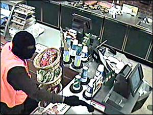 Surveillance video of the robbery.