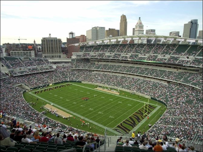 Paul Brown Stadium Bengals Due to ongoing renovations to Ohio Stadium, the Buckeyes will play their spring football game Saturday at Paul Brown Stadium in Cincinnati.