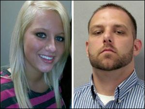 On March  24, Kaitlin Gerber, left, was killed by her on-again, off-again boyfriend, Jashua Perz, 29, right.