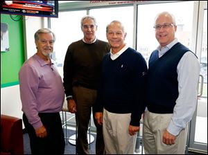Left to right Larry Peterson, Bill Mueller, Randy Oostra, and Alan Sattler in the ProMedica suite.