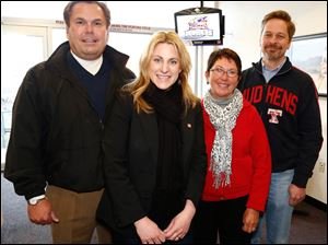 Left to right Bob LaClair, Carla Nowak, Karen Fraker, and Brad Toft.