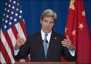 US Secretary of State John Kerry arrived in Beijing today to seek Chinese help in persuading North Korea to halt its nuclear and missile testing program.
