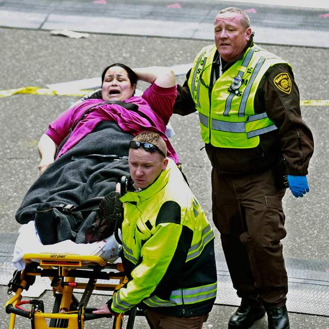 APTOPIX-Boston-Marathon-Explosions-woman-screams