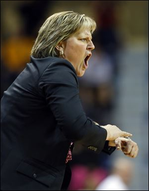 University of Toledo women's basketball head coach Tricia Cullop is talking to Ohio State about a possible job.