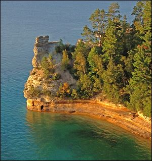 Michigan last year attracted 3.8 million visitors to such sites as Pictured Rocks National Seashore in Munising, Mich.