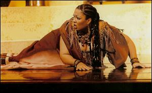 Othalie Graham as the title role in 'Aida.'