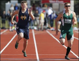 Woodmore's Andrew Shrewsbury took fifth place in the 200 meters and sixth in the 100 at the Division III state meet last year.