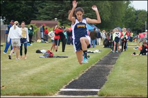 Miranda Johnson, a junior at Whiteford, won the long jump title at the Division 4 state meet last year.