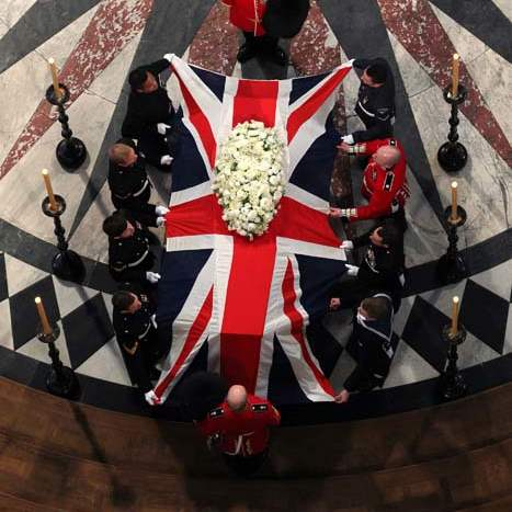 Britain-Thatcher-Funeral-coffin-prepared