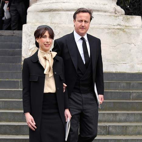 Britain-Thatcher-Funeral-cameron-and-wife