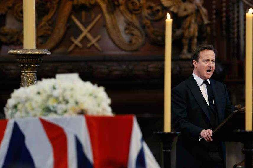 Britain-Thatcher-Funeral-cameron-reading-1