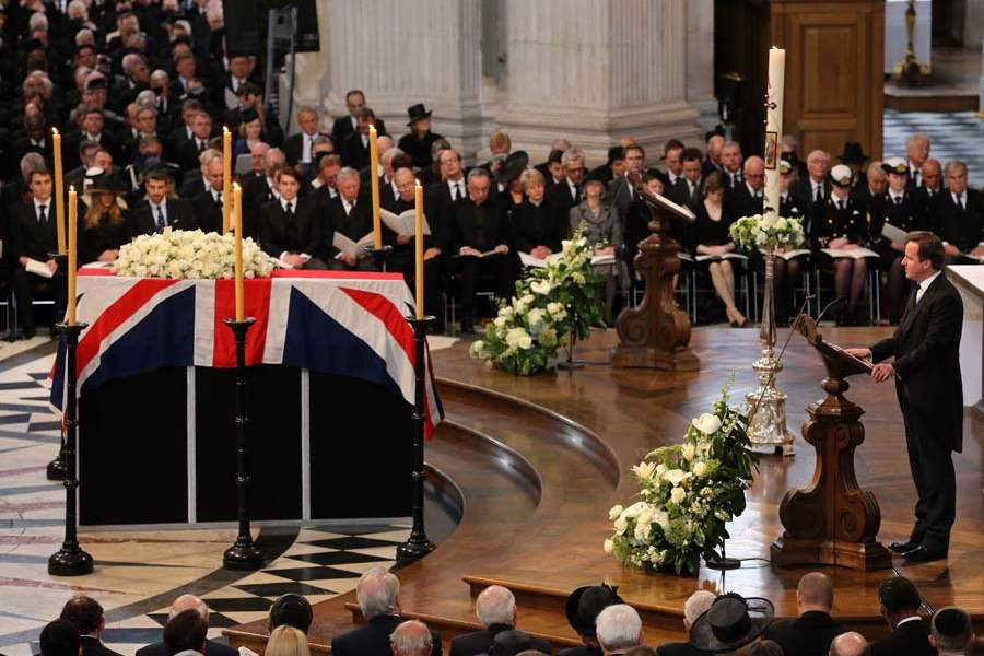 Britain-Thatcher-Funeral-cameron-reading