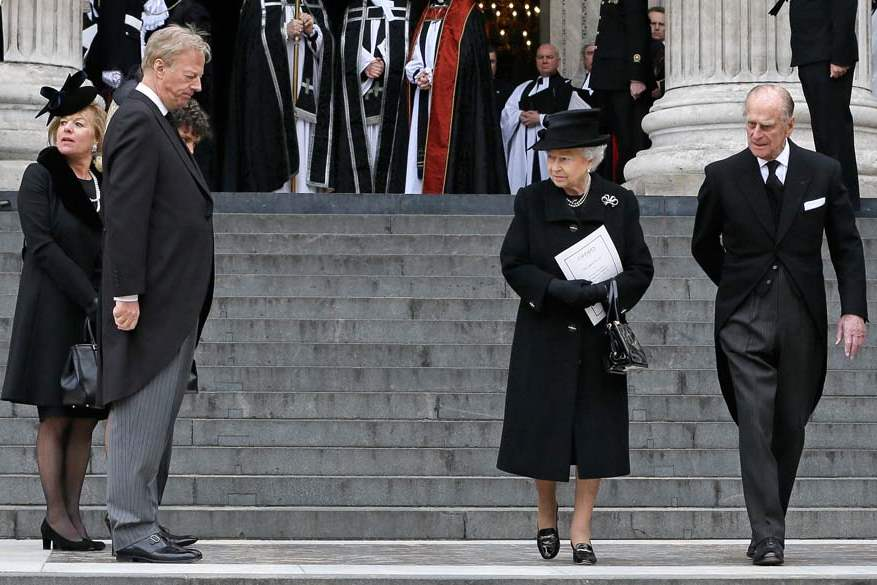 Britain-Thatcher-Funeral-queen-and-duke