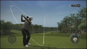 A still shot from Tiger Woods PGA Tour 14.