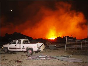 The explosion at West Fertilizer could be heard as far away as 45 miles to the north. It sent flames shooting high into the night sky and rained burning embers, shrapnel and debris down on shocked and frightened residents.