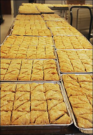Baklava will be one of the goodies that will be sold next Sunday in the community center of Holy Trinity Greek Orthodox Cathedral in Toledo.