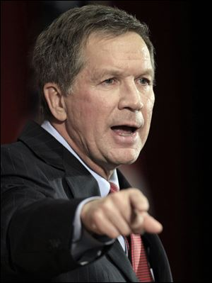 In preliminary poll released by Quinnipiac University, Ohio Gov. John Kasich leads his likely challenger for 2014 gubernatorial race.