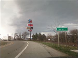 Storm clouds gather over Monroe, Mich.
