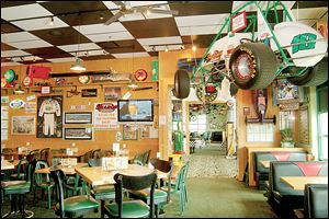 Quaker Steak & Lube is a play on the name of Quaker State motor oil. The restaurant chain has 17 locations in Ohio.