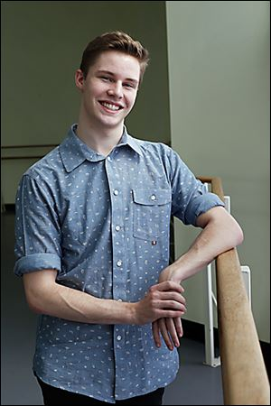 Sean Howe, 18, of Sylvania is the only person from Ohio to be accepted into Juilliard School's dance program this fall.