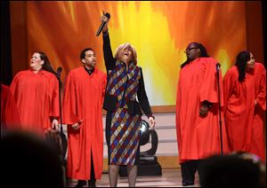 Singer Dorinda Clark Cole performs onstage during the BET Celebration of Gospel 2013 last month at Orpheum Theatre in Los Angeles.