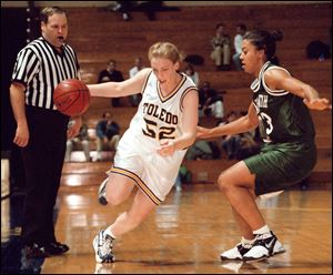 Kim Knuth is the MAC's all-time leading scorer (2,509 points) for both men's and women's basketball. She also ranks first in steals (368) and field goals made (899).